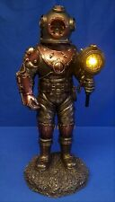 NEMESIS NOW STEAMPUNK LAMP - MARINER'S DESCENT DEEP SEA DIVER SKELETON FIGURE