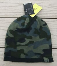 "NWT UNDER ARMOUR ""UA 2-Way"" Mens Reversible Camo Knit Beanie Hat-OSFM @$30 BLACK"