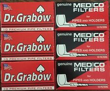 3 Boxes Dr. Grabow & 3 Boxes Medico Pipe Filters 60 Total NEW 2 1/4""