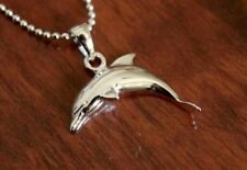 Hawaiian Genuine 925 Sterling Silver Hawaii Dolphin Pendant Necklace #SP29601