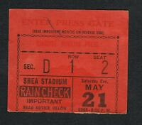 1966 Jose Torres Wayne Thronton boxing ticket Shaw Gavin Green Waldheim Wright