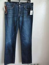 SEVEN FOR ALL MANKIND STRAIGHT JEANS, Blue (NYD), Size 32, MSRP $159