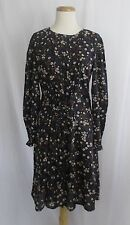 eShakti Floral Print Dress Lace Up Corset Rayon Cotton Large Empire Waist Flower