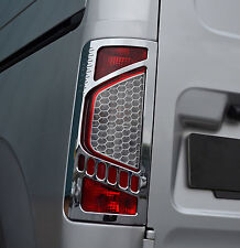 CHROME REAR TAIL LIGHTS TRIM COVERS SURROUNDS FOR FORD TRANSIT CONNECT 09-13