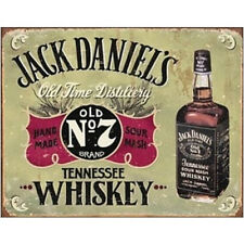 Jack Daniels Hand MadeTennesse Whiskey Metal Tin Sign