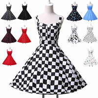 Grace Karin Vintage 50s 60s SHORT DRESS Party Evening Swing Pinup Retro Dress