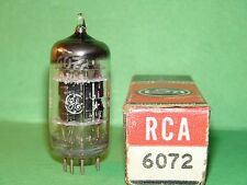 GE 6072 3 Mica Black Plate Vacuum Tube 5 ***** Very Strong Balanced