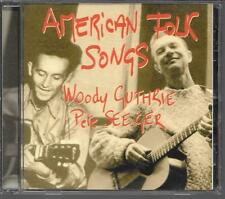 CD COMPIL 20 TITRES--AMERICAN FOLK SONGS--WOODY GUTHRIE & PETE SEEGER
