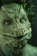 GREEN REPTILE SILURIAN DRAGON MASK PRO LATEX APPLICATION FANCY DRESS COSTUME NEW