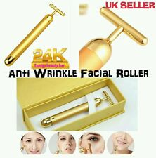 Derma Roller 24k Gold Facial Skin Lifting Massage Wrinkle Treatment BEAUTY BAR