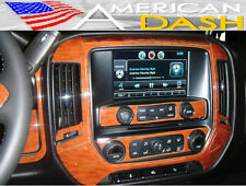 CHEVY CHEVROLET SILVERADO 1500 2500 INTERIOR WOOD DASH TRIM KIT 2014 2015 2016