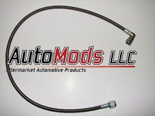 "24"" 90 Braided ss stainless steel Line Aeroquip -4an turbo oil feed universal"