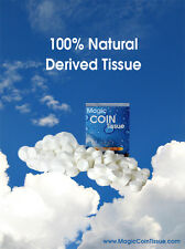 Magic Coin Tissue - 100% Rayon Compressed Tissue, 500pc Bulk Packaging Box