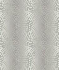 GRANDECO LUXURY GLITTER LEON CIRCLES GEOMETRIC WALLPAPER BOA-015-03-4 SILVER