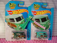 2015 SUPER Treasure Hunt KOOL KOMBI & Reg #73∞Green VW Bus;Surf Shop☆Hot Wheels