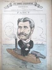 EUGENE FARCY MARINE CANONNIERE CARICATURE GILL LES HOMMES D'AUJOURD'HUI 1878
