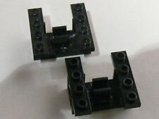 Lego 2 supports rouages noirs set 7990 9754 4856 70168 / 2 black gearbox