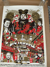 Tyler Stout Big Trouble in little China Original Poster Rare