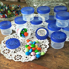 30 Blue  CAP Jars Container Bottle Herbs Beads Jewelry Hobby 2 Tblsp 1oz USA NEW