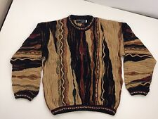 "VTG BARACUTA BY TUNDRA ""BILL COSBY"" THIN & CHUNKY KNIT CREWNECK SWEATER MENS M"