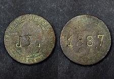 10 centimes 1864 Napoléon III° - Surfrappe JBL 1887