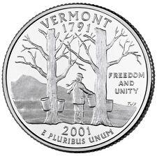 2001 D Vermont State Quarter BU