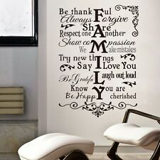 Huge Family Letter Vinyl Wall Decal Quote Sticker Vinyl Wall Room Inspiration