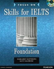 Pearson FOCUS ON SKILLS FOR IELTS FOUNDATION Book & CD Pack for IELTS exams NEW