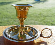 BRASS SMALL CHAMBERSTICK CANDLE HOLDER Wicca Pagan Witch CHAMBER STICK