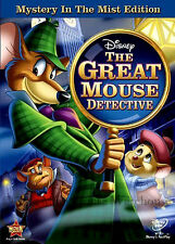 Disney Sherlock Holmes of Mousedom Basil The Great Mouse Detective on DVD