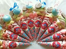 Pre filled large SHIMMER AND SHINE sweet cones party bags PERSONALISED birthday
