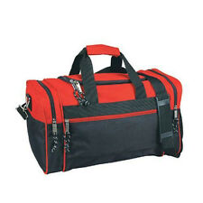 "21"" Duffle Bag Duffel Bag Sports Travel Bag Black Gym Bag Carry-On, Red/Black"