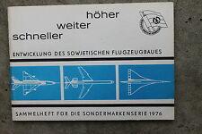 1277 DDR Sondermarken Spendenmarken Sammelheft Flugzeuge UdSSR 1976 DSF