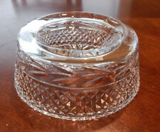 "GALWAY IRISH CRYSTAL LEAH PATTERN PET BOWL / DISH 71/2"" EXCELLENT"