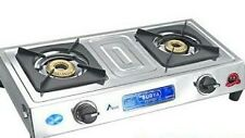 Surya LPG 2 Burner Gas Stove Stainless Steel - Heavy - 1 Year Warranty