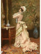 """Victorian Trading Co. """"Toilette"""" Unframed Print  Rougeron, Jules James 1841-1880"""