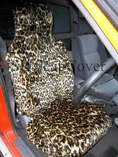 CHRYSLER JEEP / PT CRUISER CAR SEAT COVERS - GOLD LEOPARD FAUX FUR - FULL SET