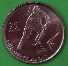 2007 Canada Ice Hocky 25 Cents One of Winter Games 2010 Series From Mint Roll