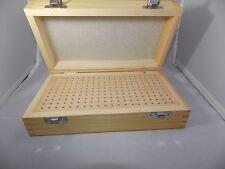 Scatola in legno porta punte 200 fori mini trapano frese dremel utensileria box