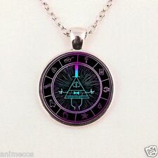 Steampunk Drama Gravity Falls Mysteries BILL CIPHER WHEEL Pendant Necklace glass