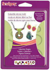 CLAY MOLD Jewelry Shapes CABOSHON Sculpey Bakable