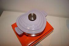 Le Creuset Cast Iron 16cm Heart Shaped Casserole Pot ~ Lavender Colour~RARE Size