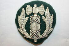 WW2 WWII FRENCH VICHY POLICE OFFICER'S CAP PATCH BADGE BULLION WIRE SILVER