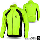 Mens Cycling Jacket Winter Fleece Thermal Windstopper Long Sleeve S to XXL