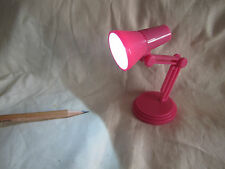 Dollhouse Standing Table LED Lamp changeable battery Pink Miniature Blythe 1:6