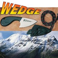 NEW Outdoor Edge Wedge Neck Knife and Sheath WG-1