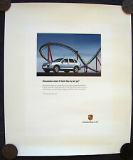 PORSCHE OFFICIAL CAYENNE S LET GO SHOWROOM ADVERTISING POSTER 2005 SMALL USA