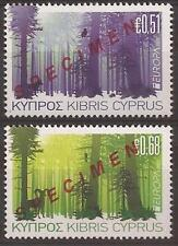 CYPRUS 2011 EUROPA CEPT SET opt. SPECIMEN MNH (FORESTS, TREES)