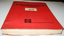 BUCYRUS ERIE VINTAGE 45-R ROTARY DRILL INSTRUCTION  MANUAL 1966