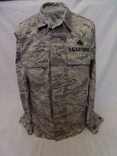 US AIR FORCE ABU MEN'S UTILITY COAT JACKET TIGER STRIPE USAF 44R #02 Master SGT.